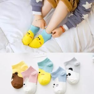 5 pairs | Adorable Toddler Socks w/ Animal Design